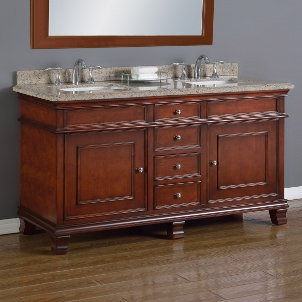 Manchester 60 double sink vanity mission hills furniture - Bathroom vanities nebraska furniture mart ...