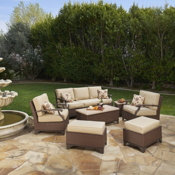 Alderwood 7pc Deep Seating Collection Mission Hills Furniture