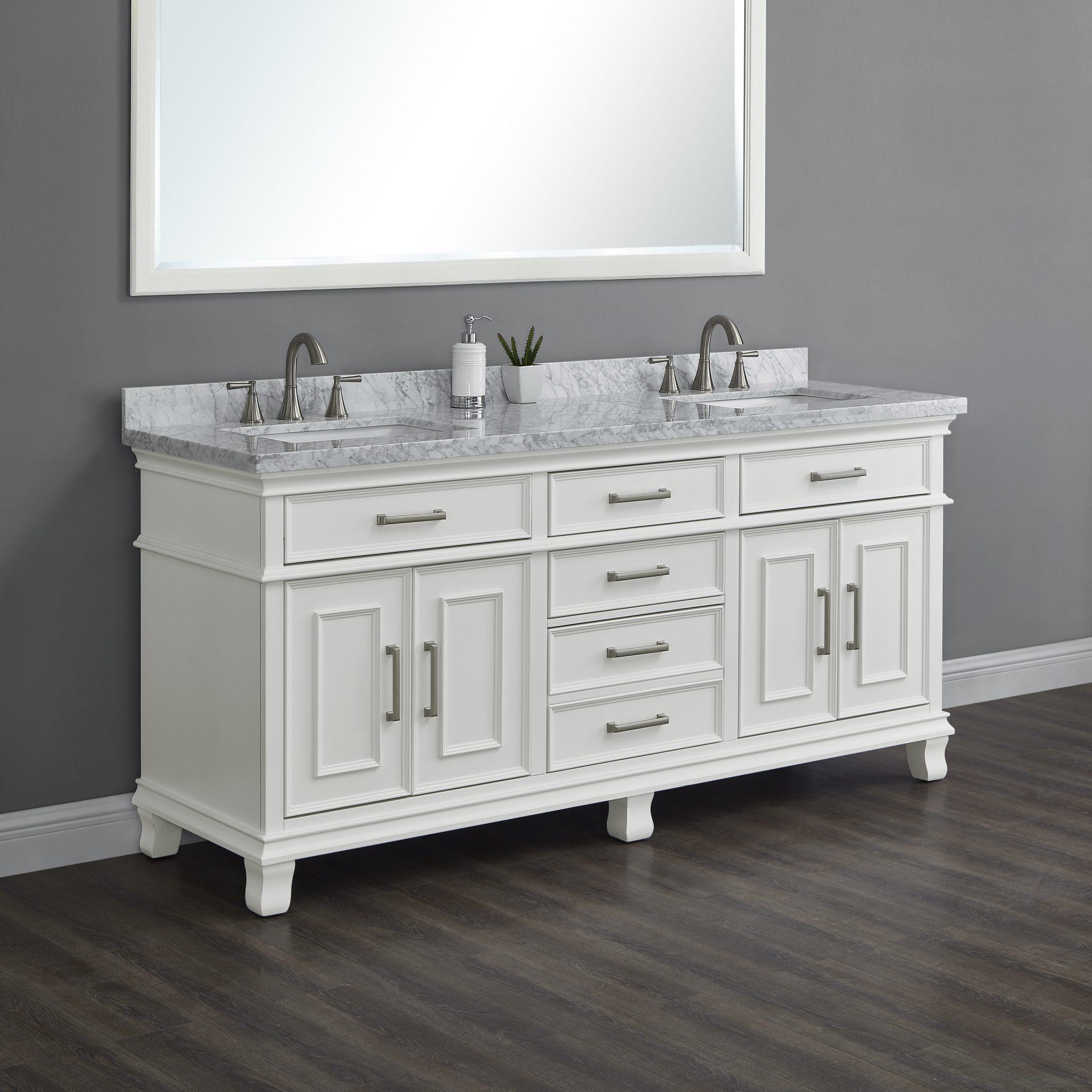 Brayden 72 White Double Sink Vanity, Bathroom Vanities Double Sink 72