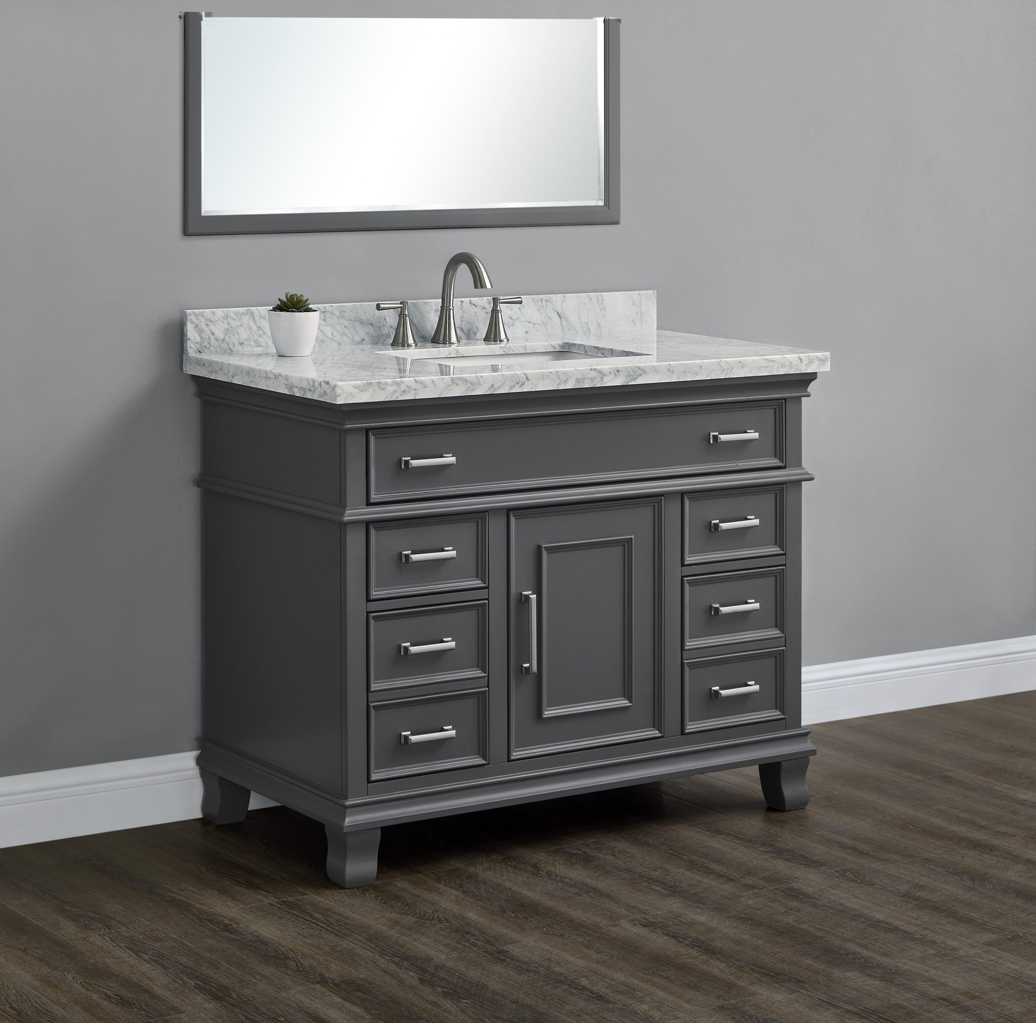 Brayden 42 Charcoal Single Sink Vanity Mission Hills Furniture