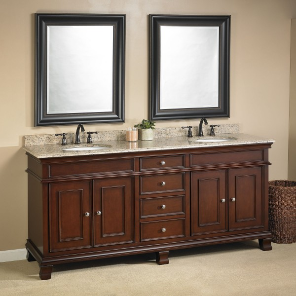 Manhattan 72 double sink vanity mission hills furniture - Bathroom vanities nebraska furniture mart ...