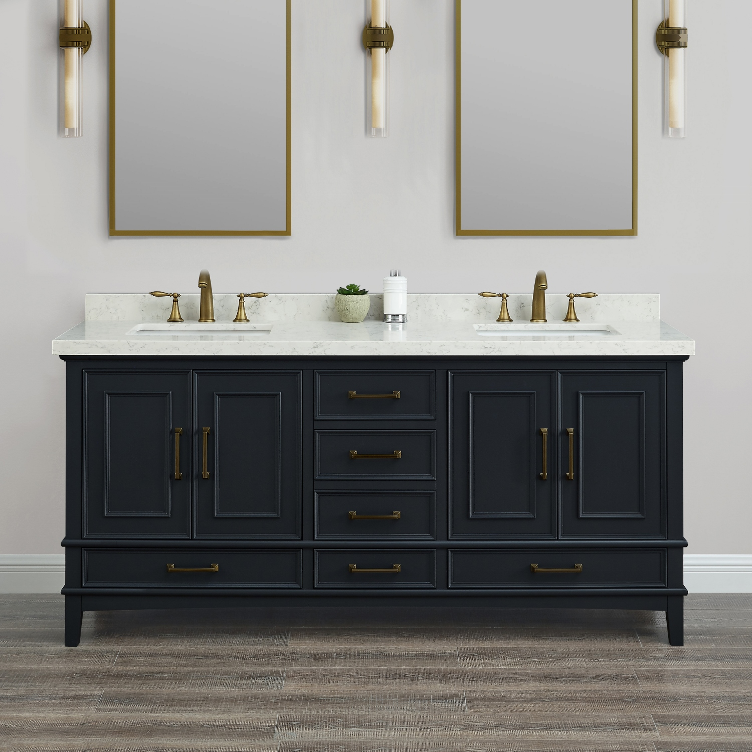 Parker 72 Quot Midnight Double Sink Vanity Mission Hills