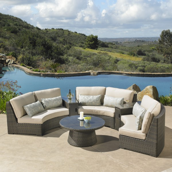 Sidney 6pc Deep Seating Sectional Mission Hills Furniture