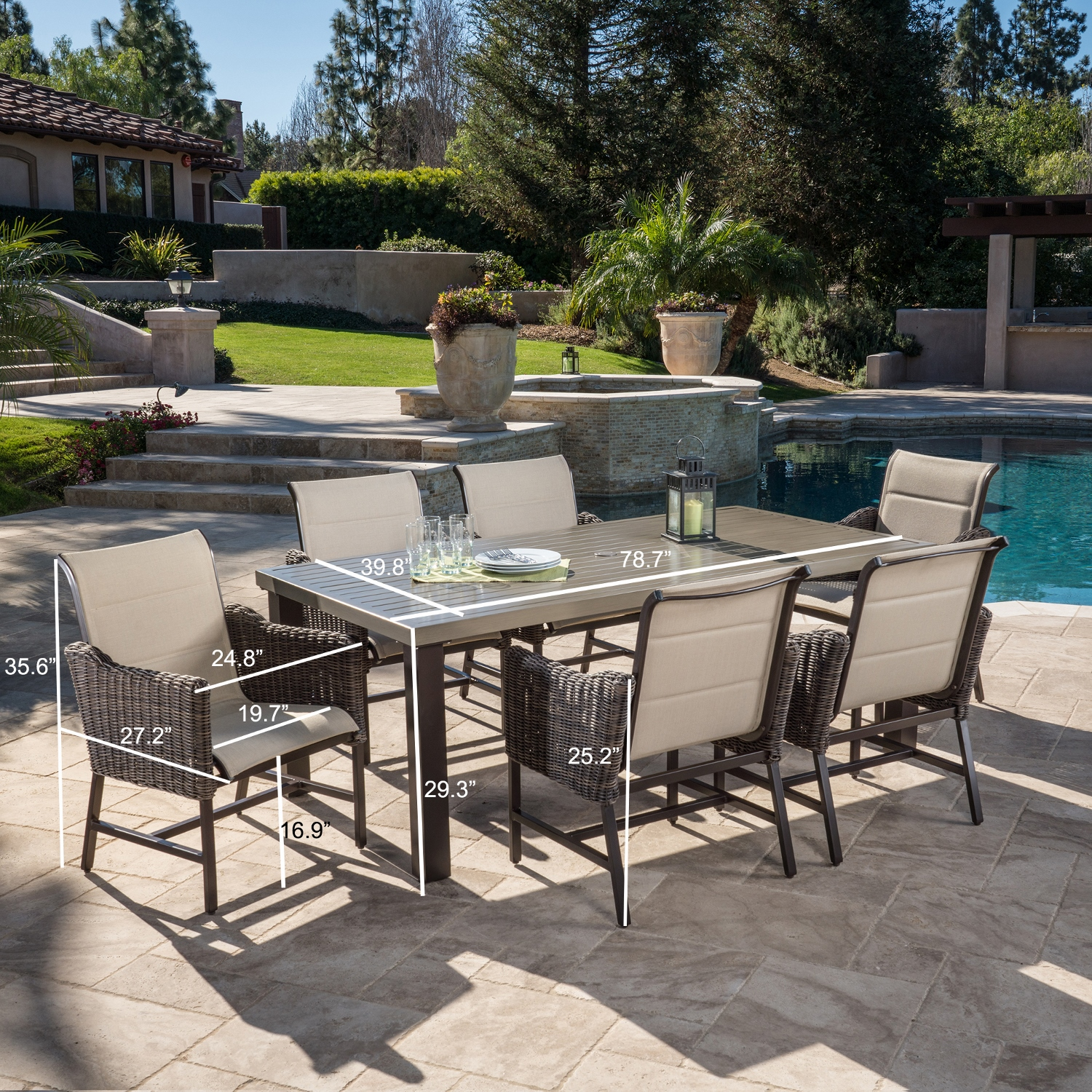Brandemore 7pc Dining Collection Mission Hills Furniture