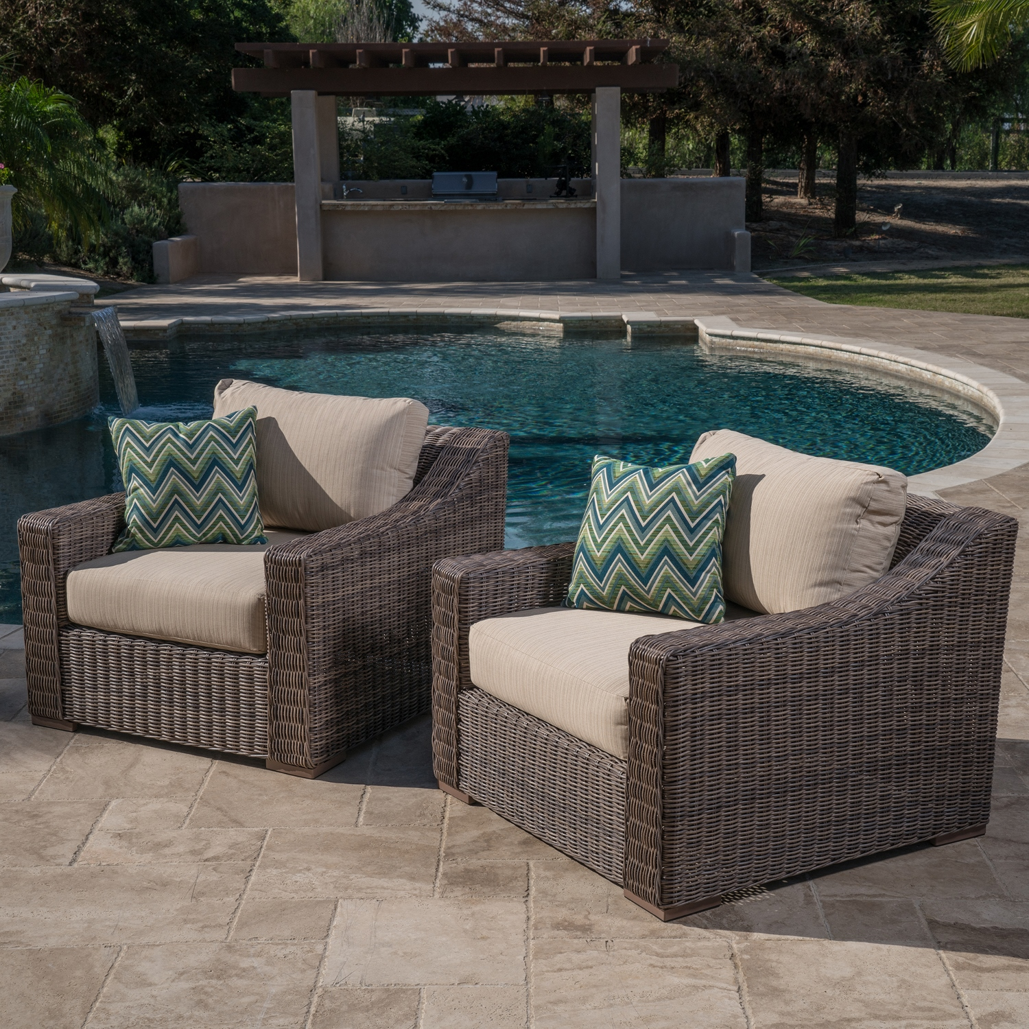 Brandemore 6pc deep seating collection mission hills for Deep seating outdoor furniture