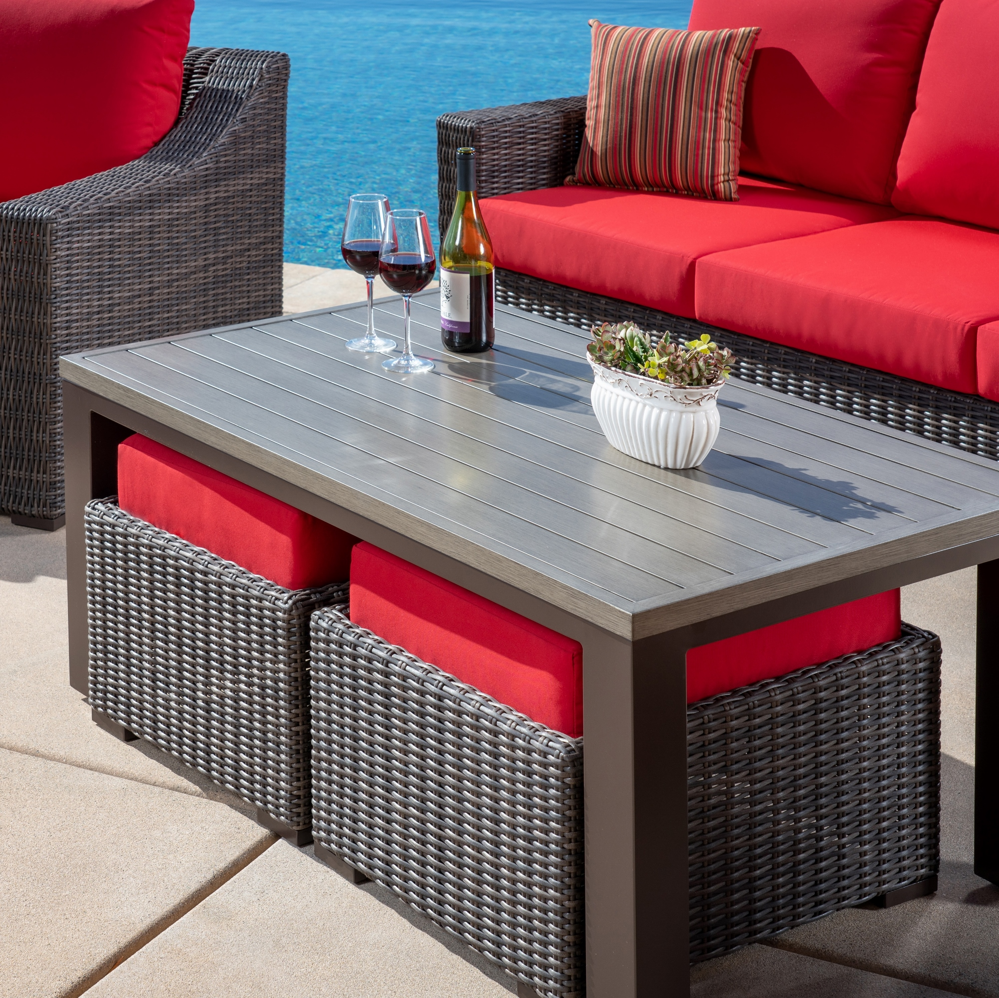 Brandemore 6pc Deep Seating Collection Red Mission