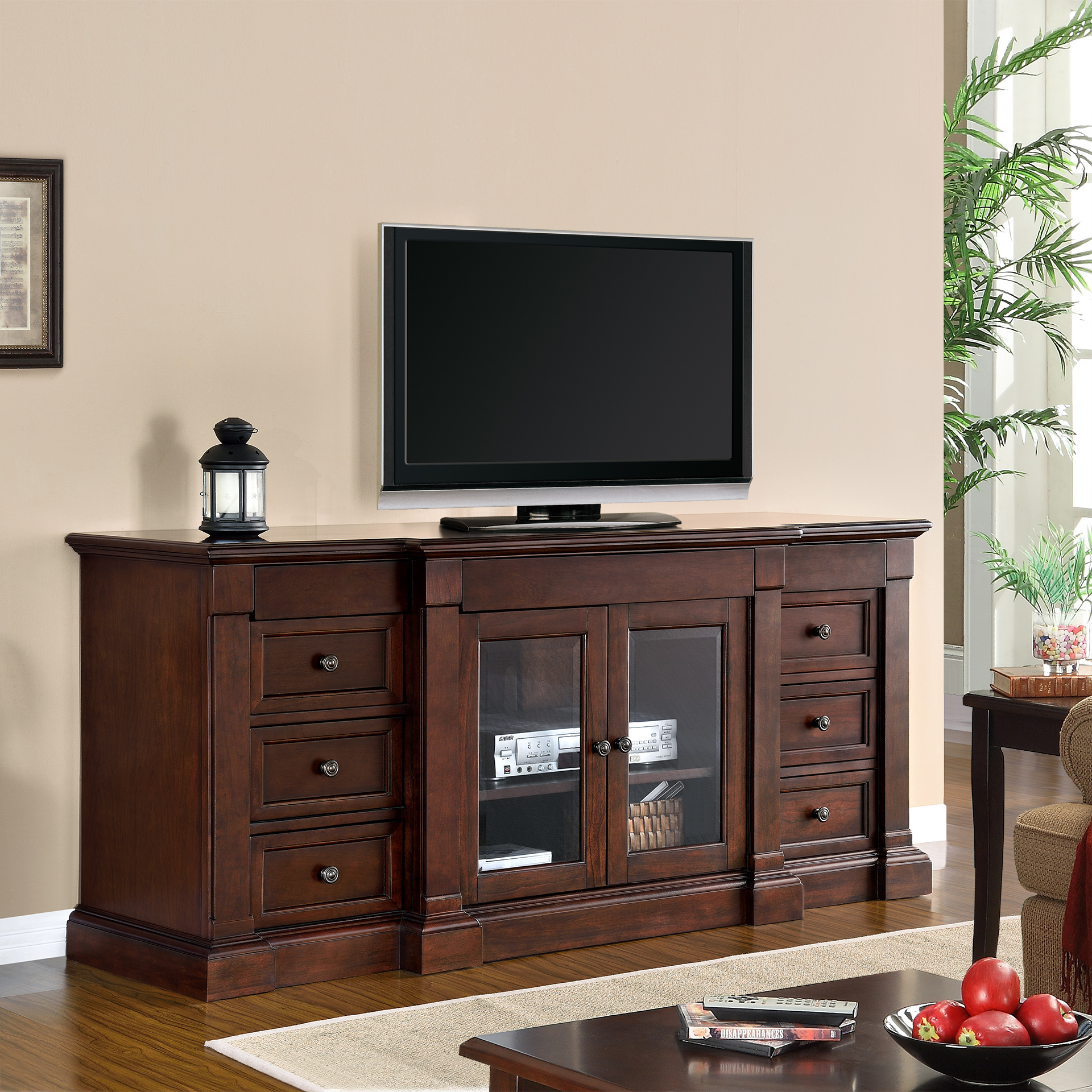 beaumont 65u201d media cabinet by mission hills
