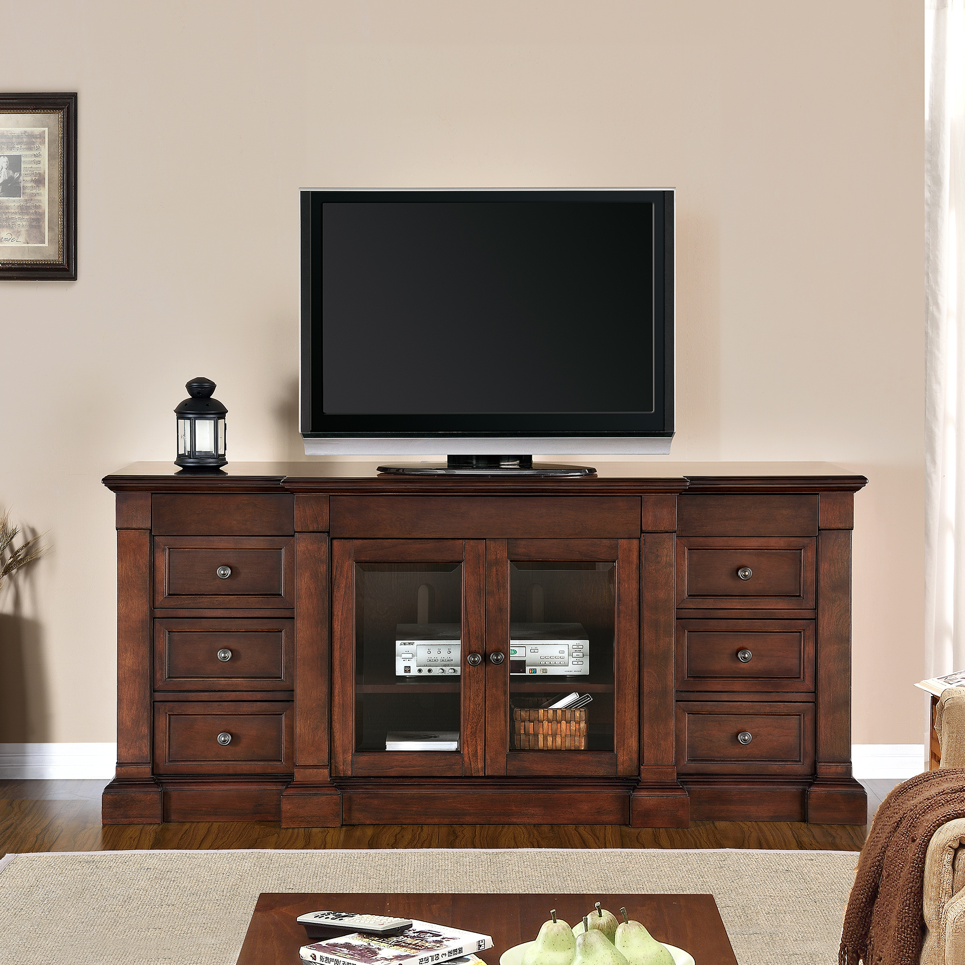Beaumont 65 Media Cabinet By Mission Hills 174 Mission