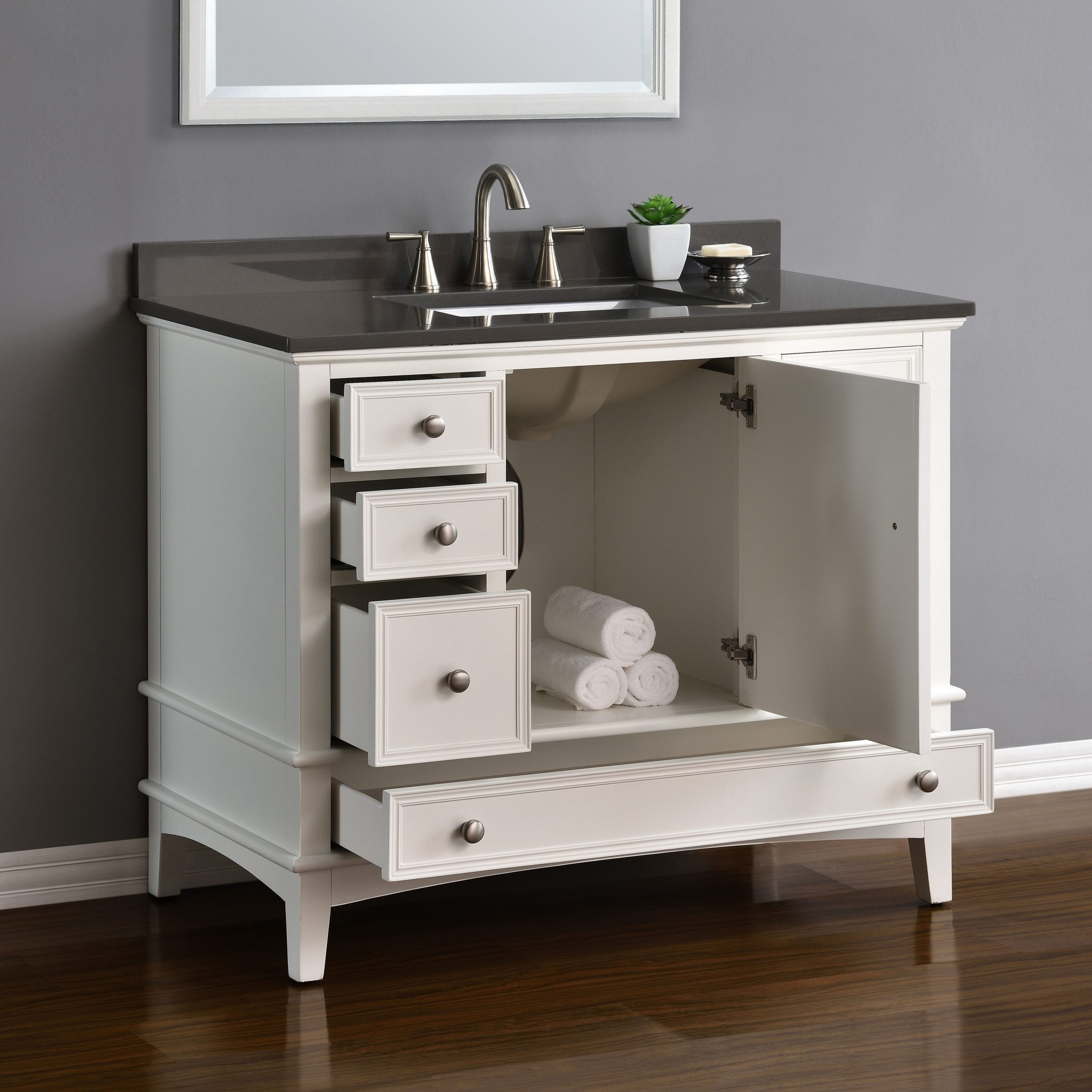 "Cambridge 42"" White Single Sink Vanity"