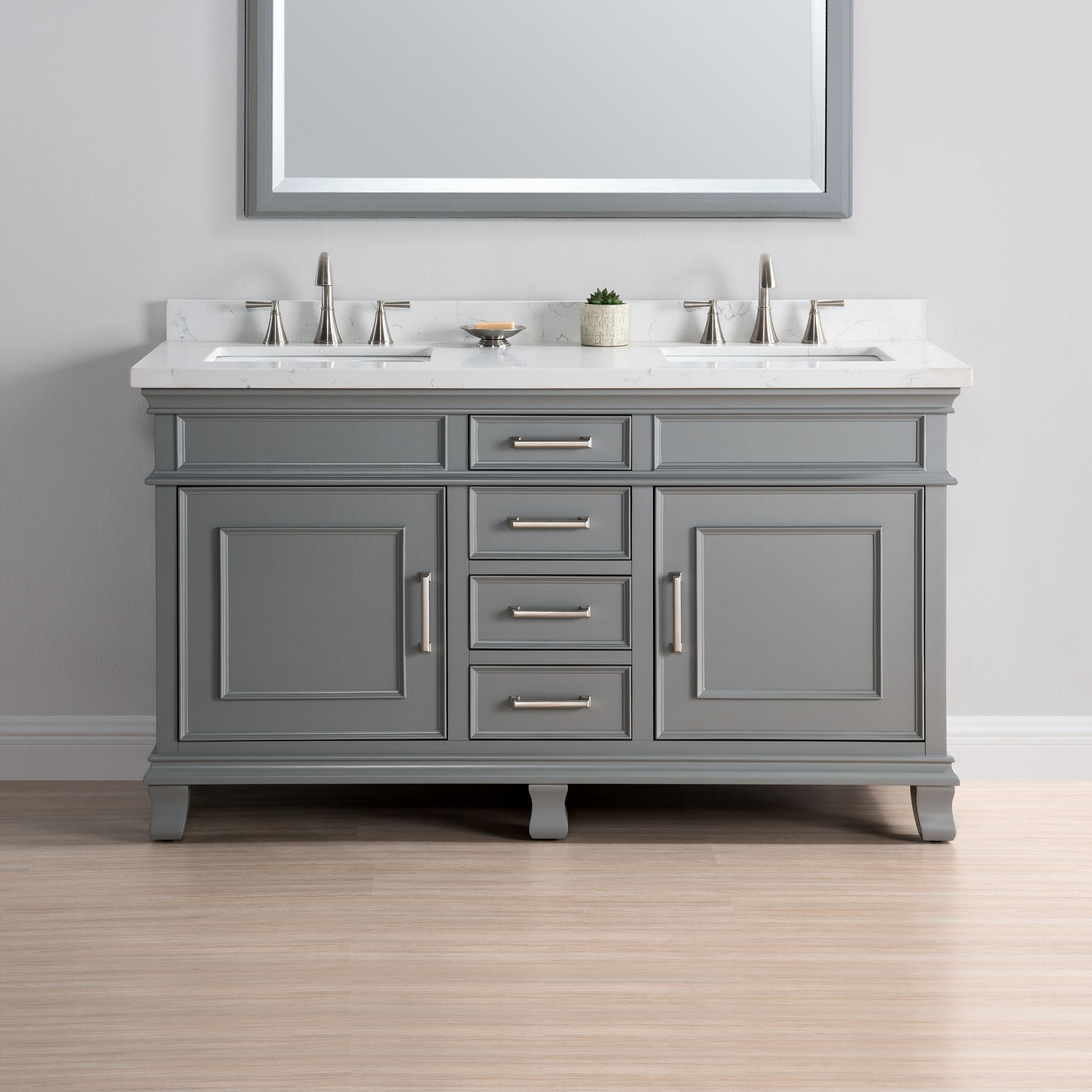 Superieur Charleston 60u2033 Double Sink Vanity
