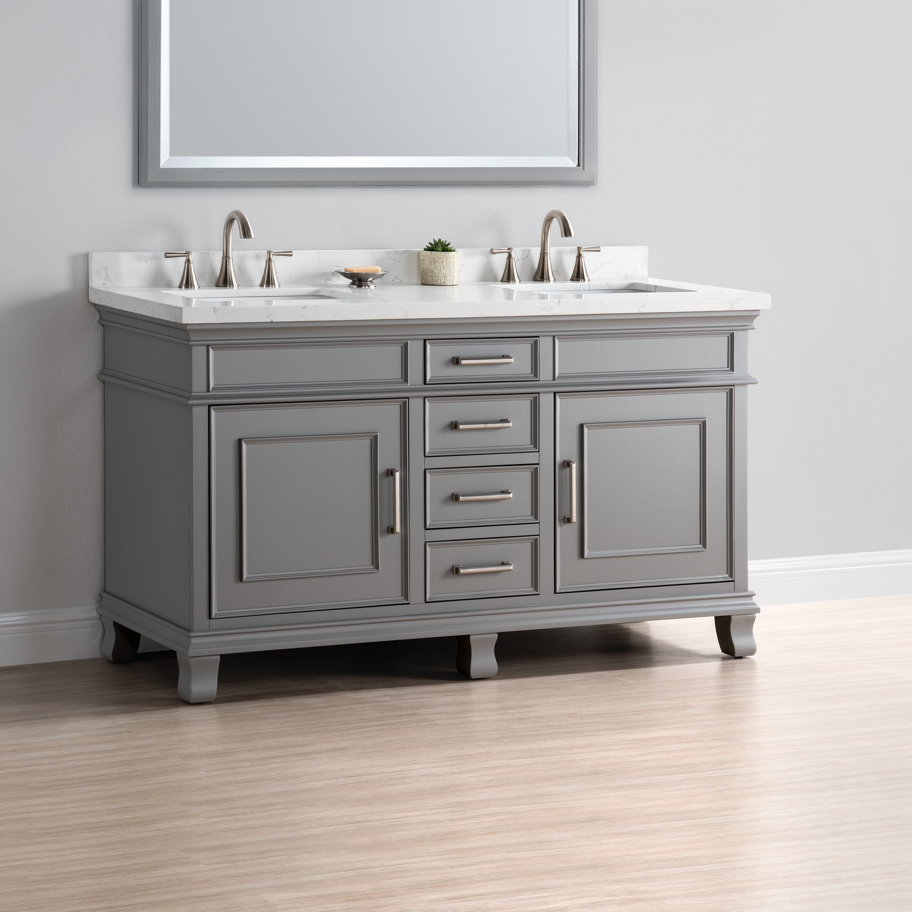 double vanity sink 60 inches.  60 Double Sink Vanity DSC 5601 Charleston Mission Hills Furniture