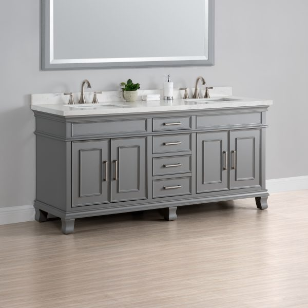 Charleston 72 double sink vanity mission hills furniture - Bathroom vanities nebraska furniture mart ...