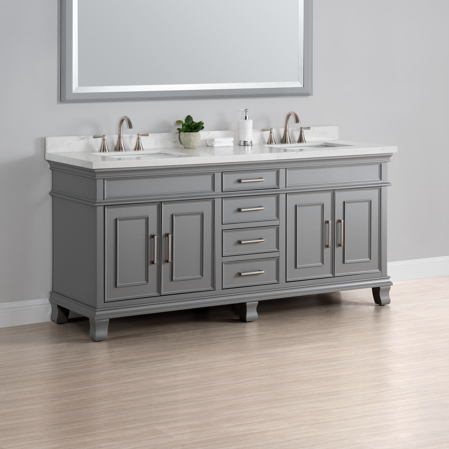 Exceptional Charleston 72u2033 Double Sink Vanity