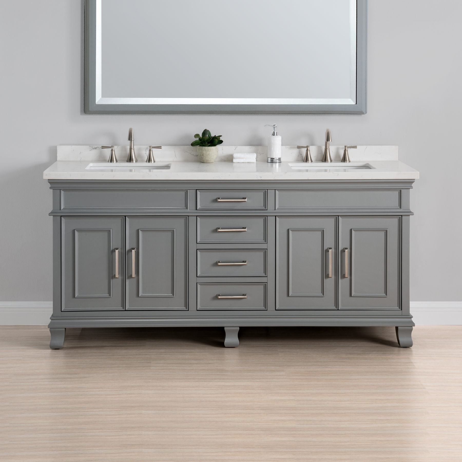 gray double sink vanity. charleston 72\u2033 double sink vanity gray