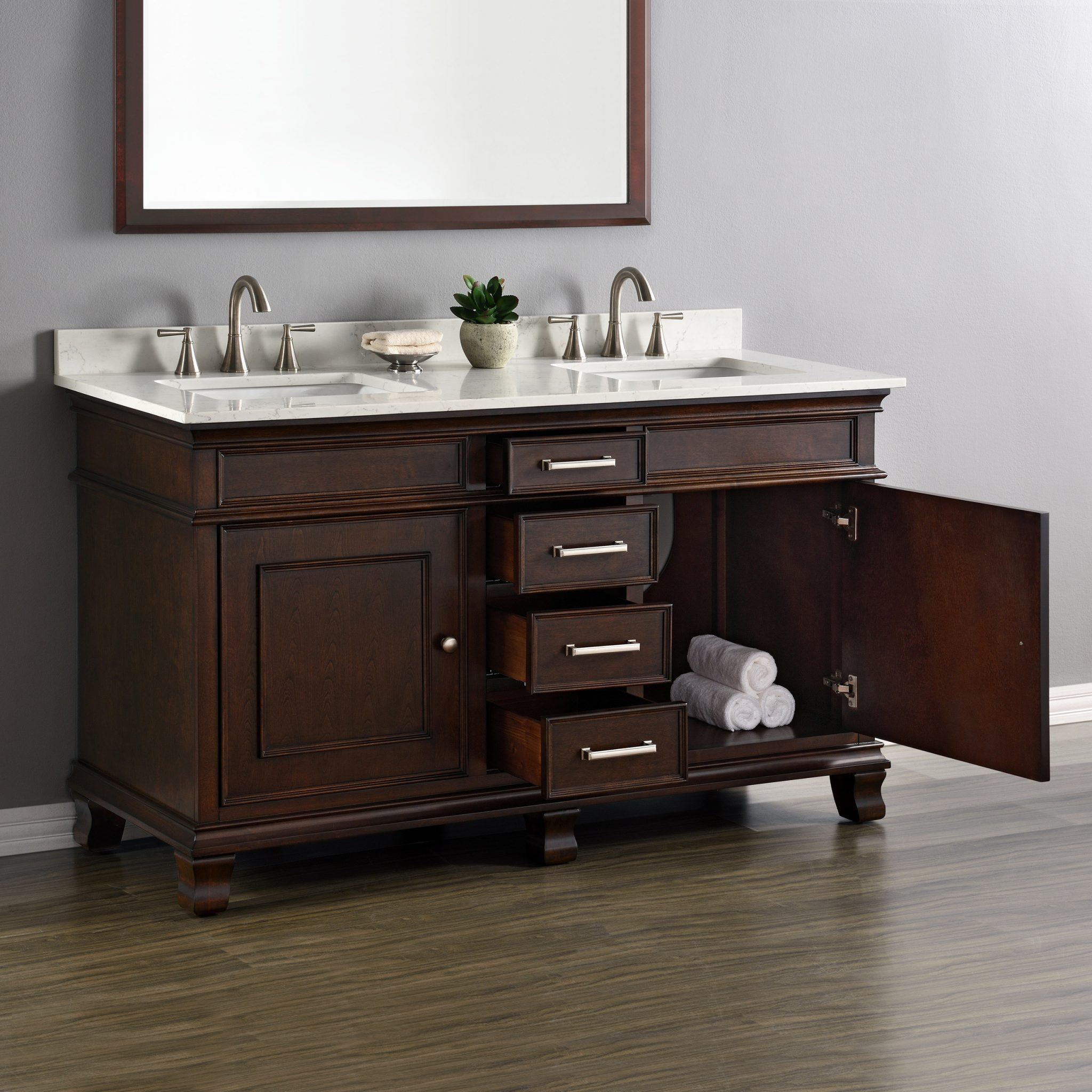 Camden 60 Quot Double Sink Vanity Mission Hills Furniture