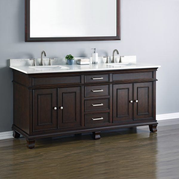 Camden 72 Quot Double Sink Vanity Mission Hills Furniture