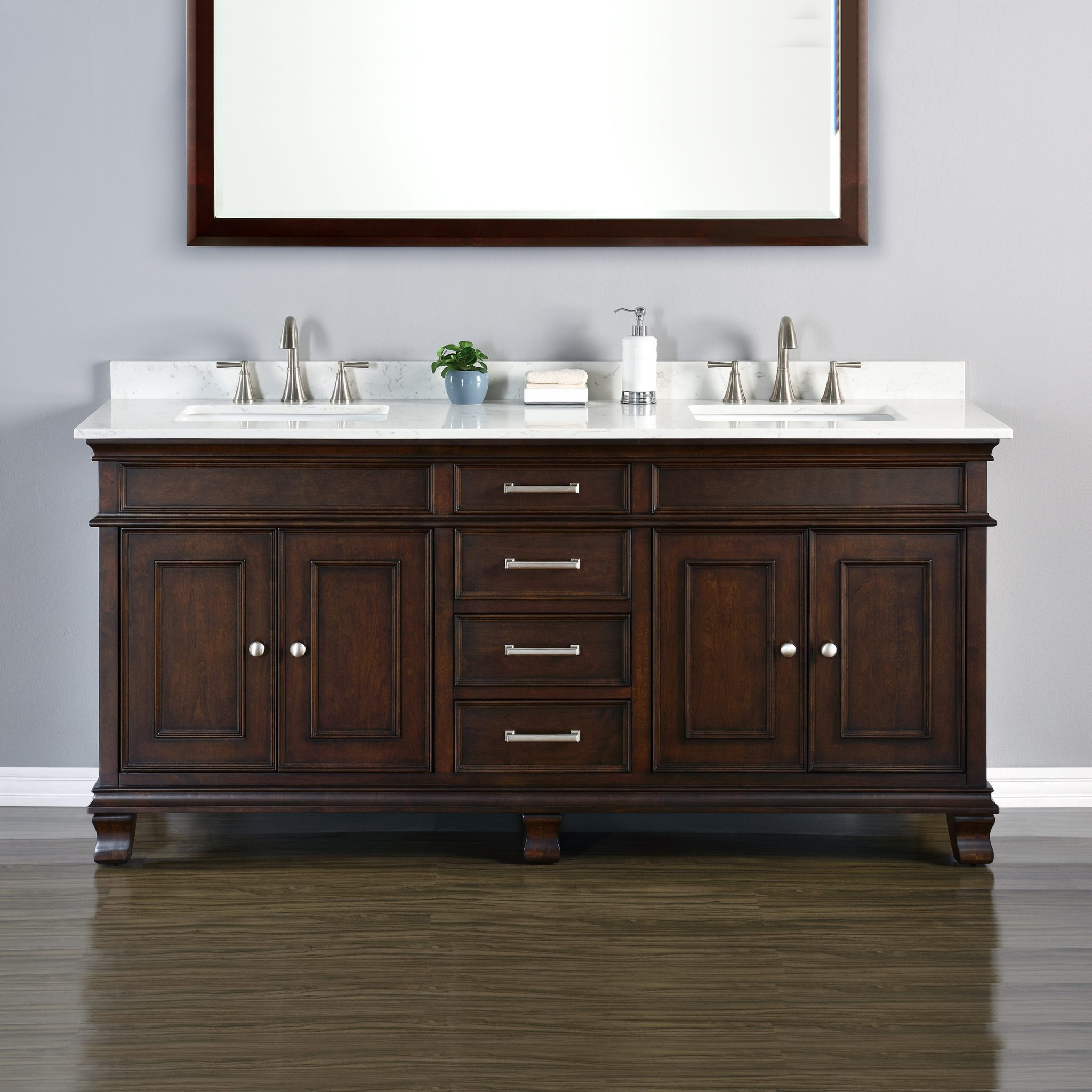 Camden 72 Double Sink Vanity Mission Hills Furniture