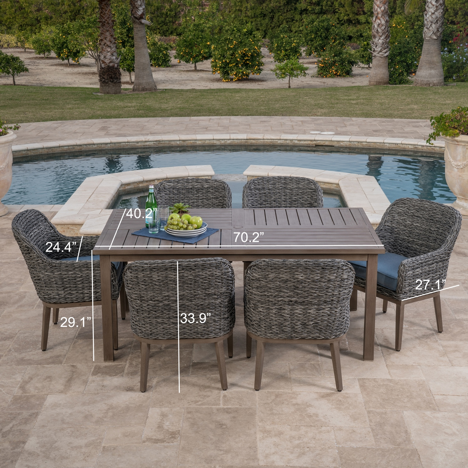 home outdoor furniture dining garden ridge 7pc dining collection
