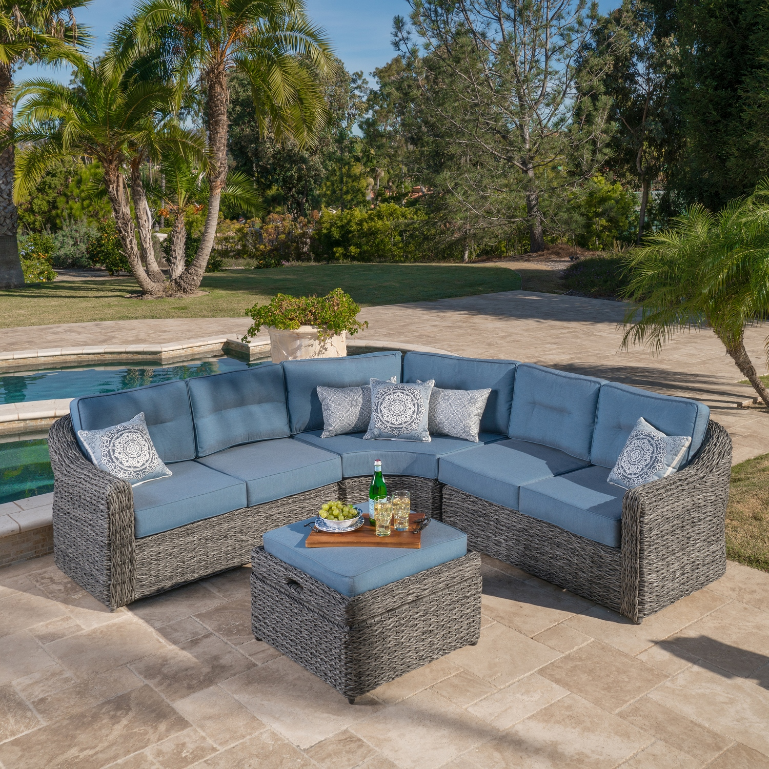 Garden ridge 4pc seating set mission hills furniture Home expo patio furniture