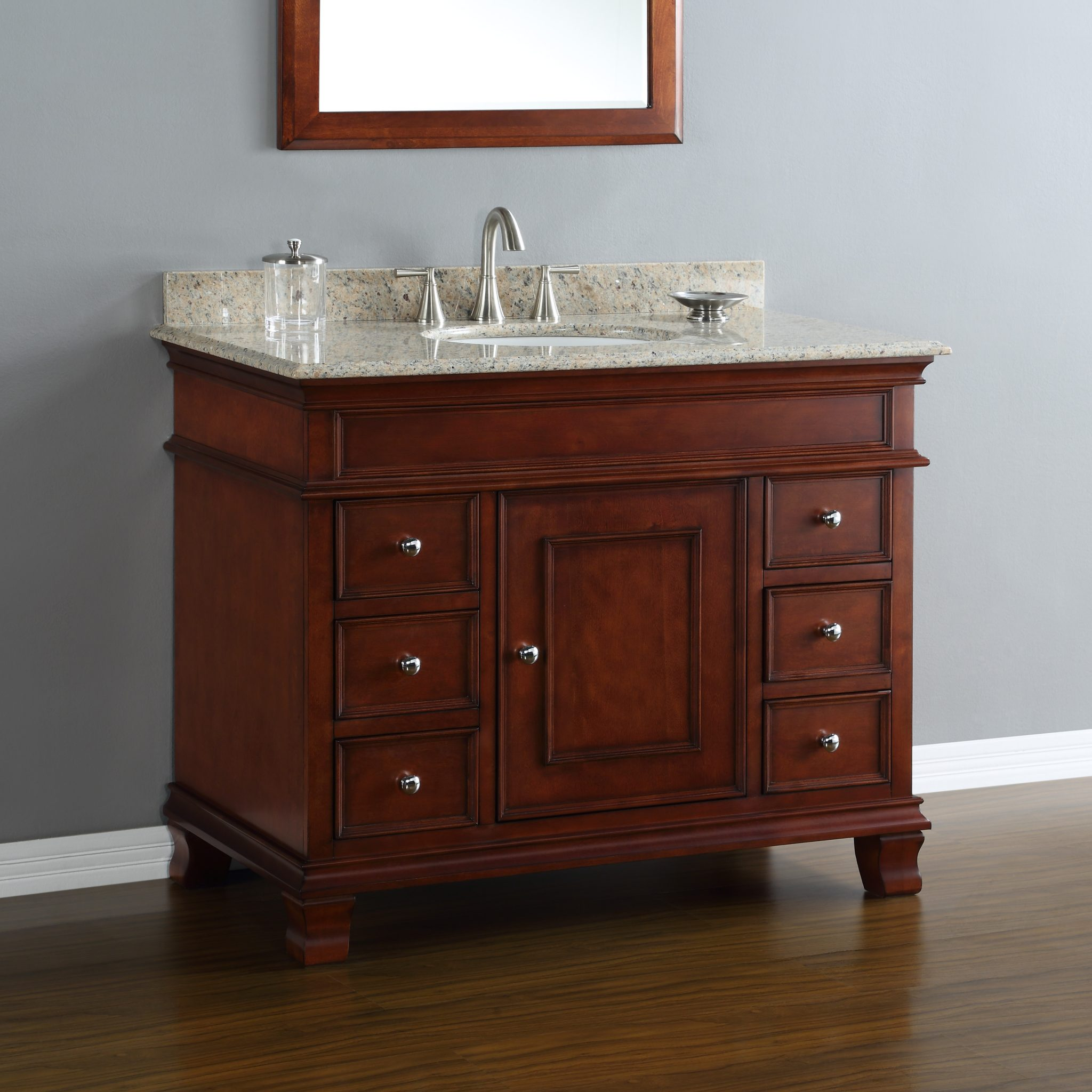 Manhattan 42 center sink vanity mission hills furniture - Bathroom vanities nebraska furniture mart ...