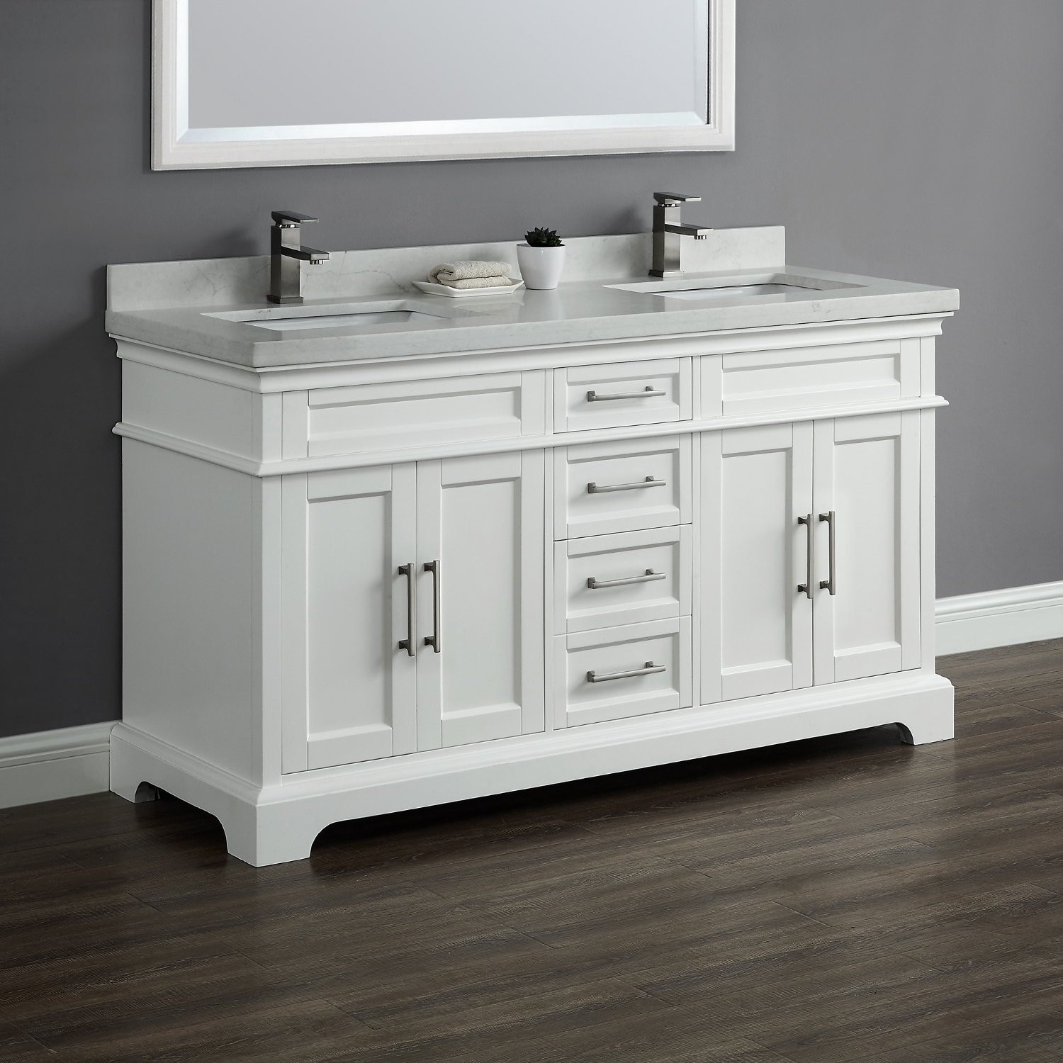Chandler 60 Quot Double Sink Vanity Mission Hills Furniture