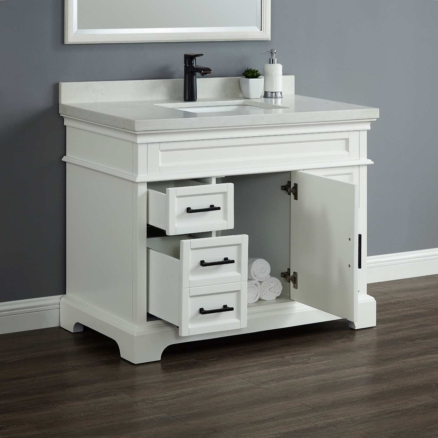 Chandler 42 Single Sink Vanity Mission Hills Furniture