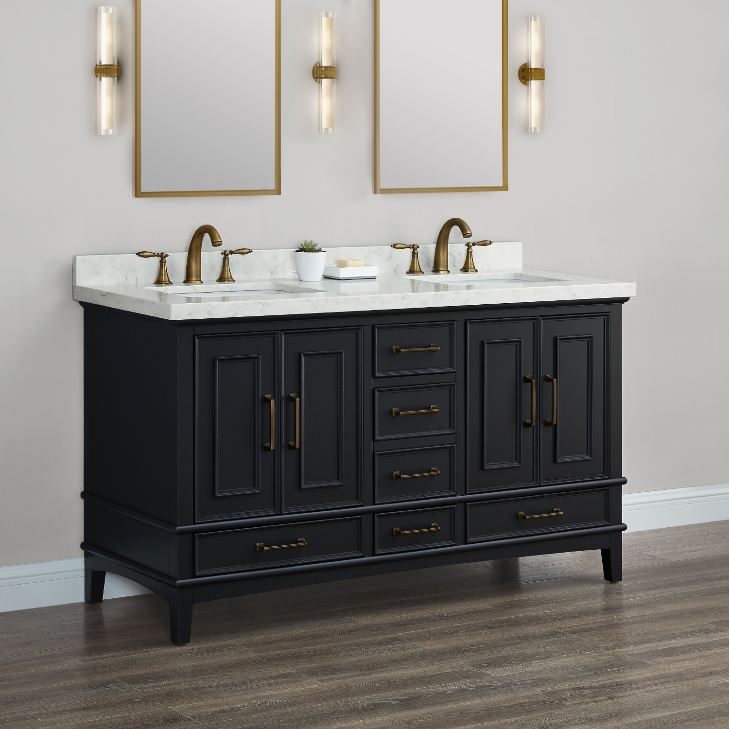 Parker 60 Midnight Double Sink Vanity Mission Hills Furniture