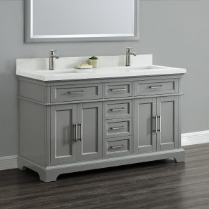 Charleston 60 double sink vanity mission hills furniture - Bathroom vanities nebraska furniture mart ...