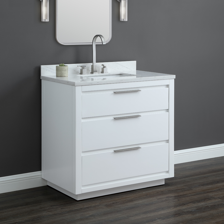 36 in white vanity