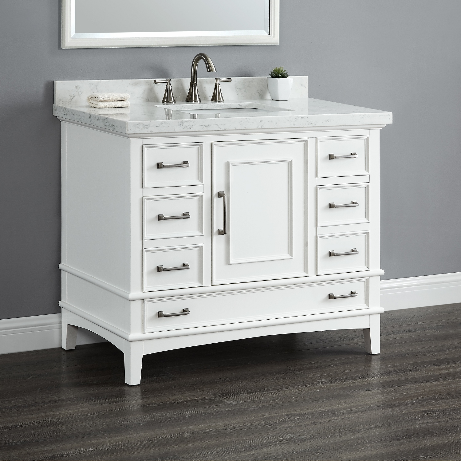 Charleston 72 Quot Double Sink Vanity Mission Hills Furniture