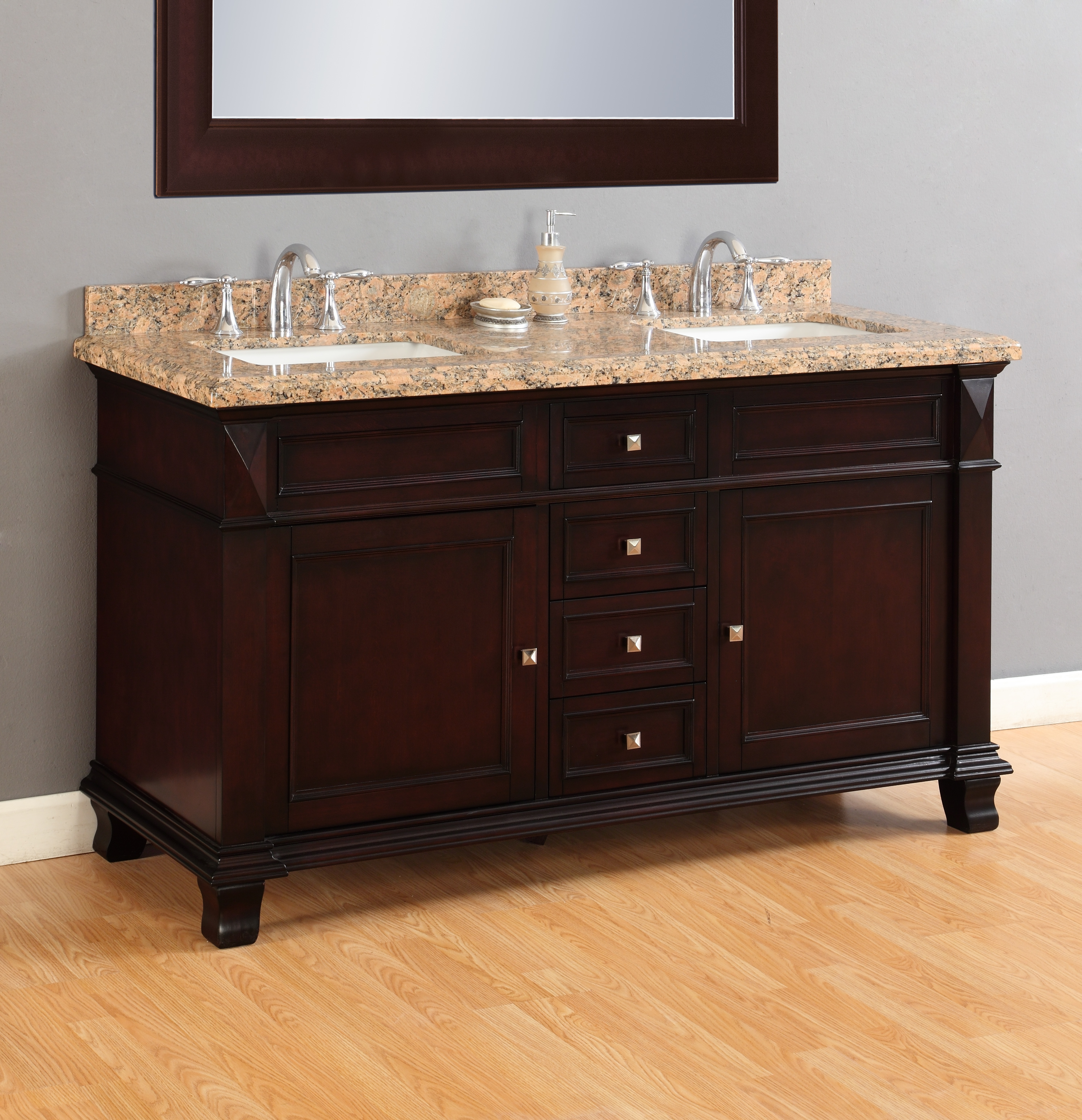 Mason 60 Double Sink Vanity Mission Hills Furniture