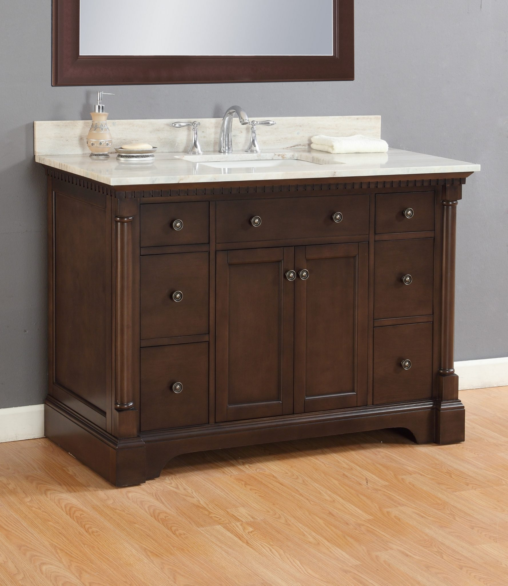 wall single in vanity element espresso product christine sink mount design set