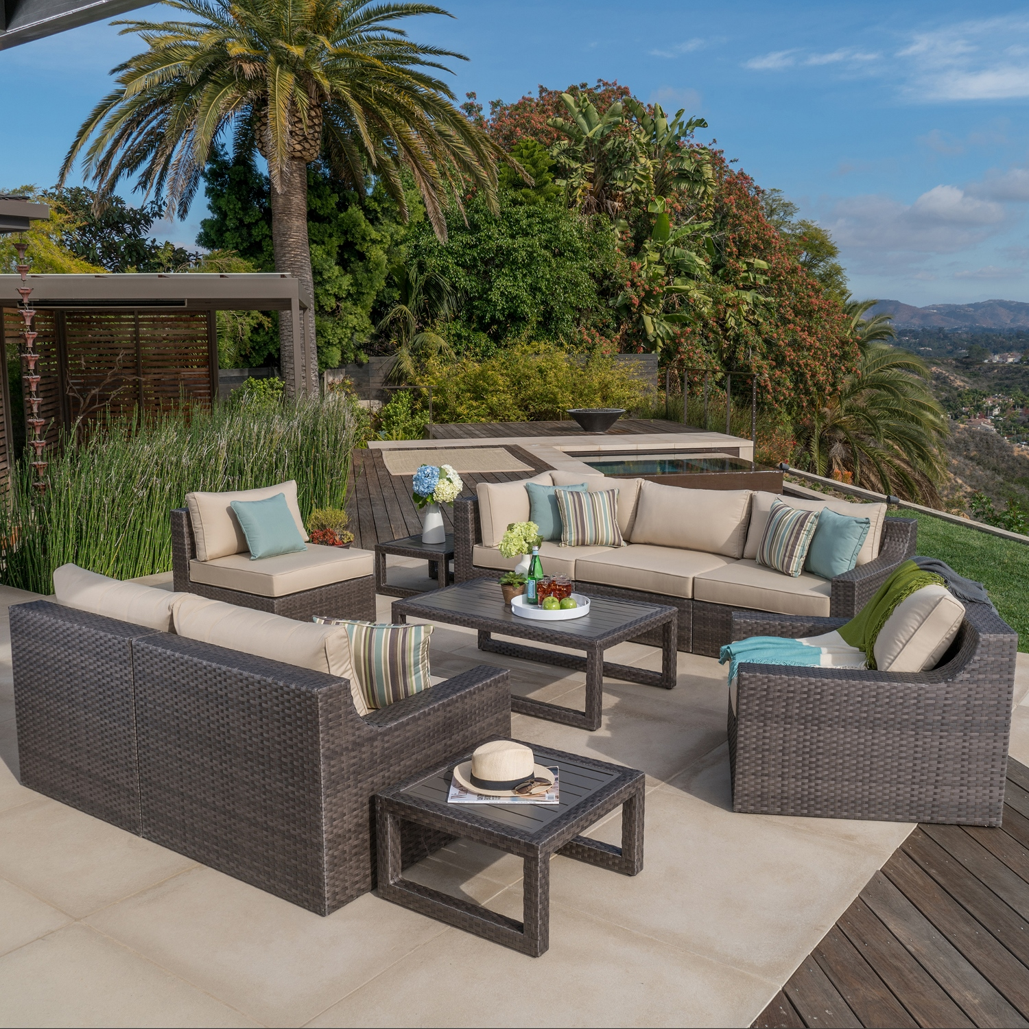 Kingston 10pc Deep Seating Collection Mission Hills
