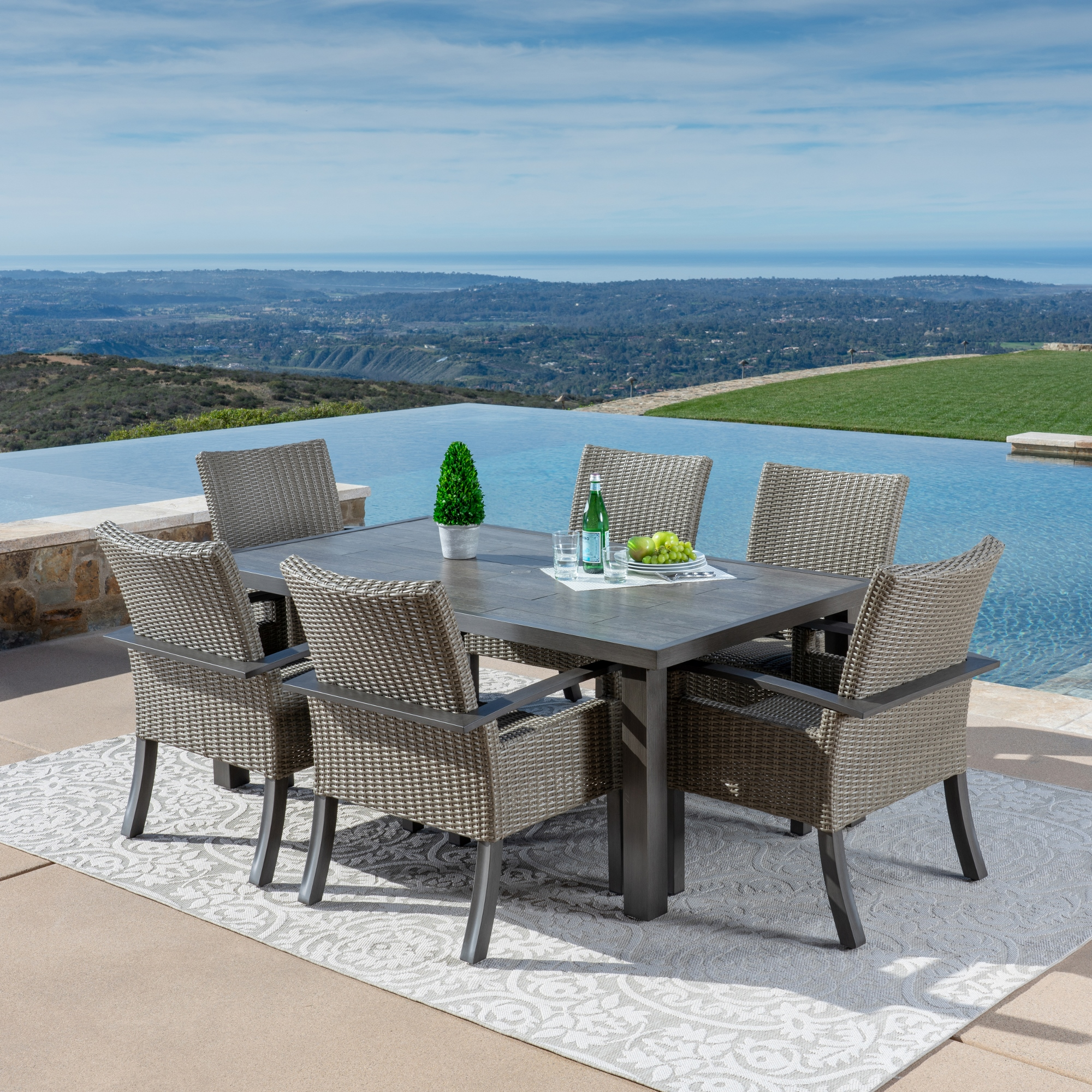 Las Palmas 7 Pc Dining Collection Mission Hills Furniture