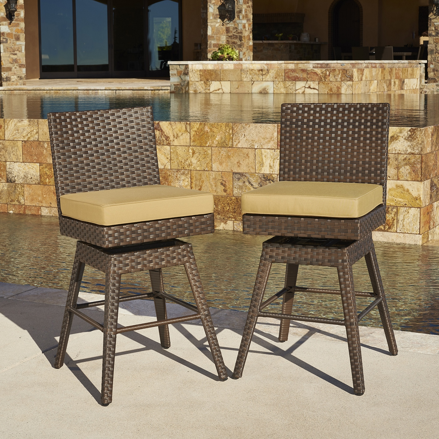 Madrid 2pk Swivel Barstools Mission Hills Furniture