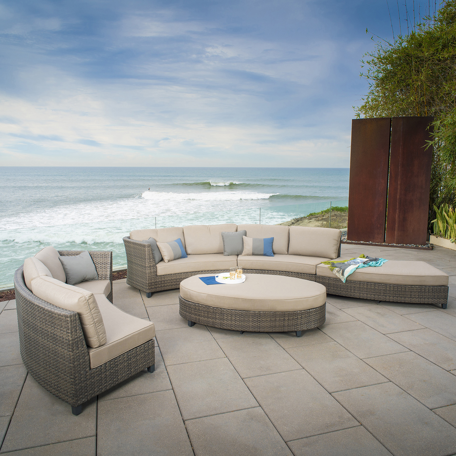 Deep Seating Sectional Outdoor Furniture
