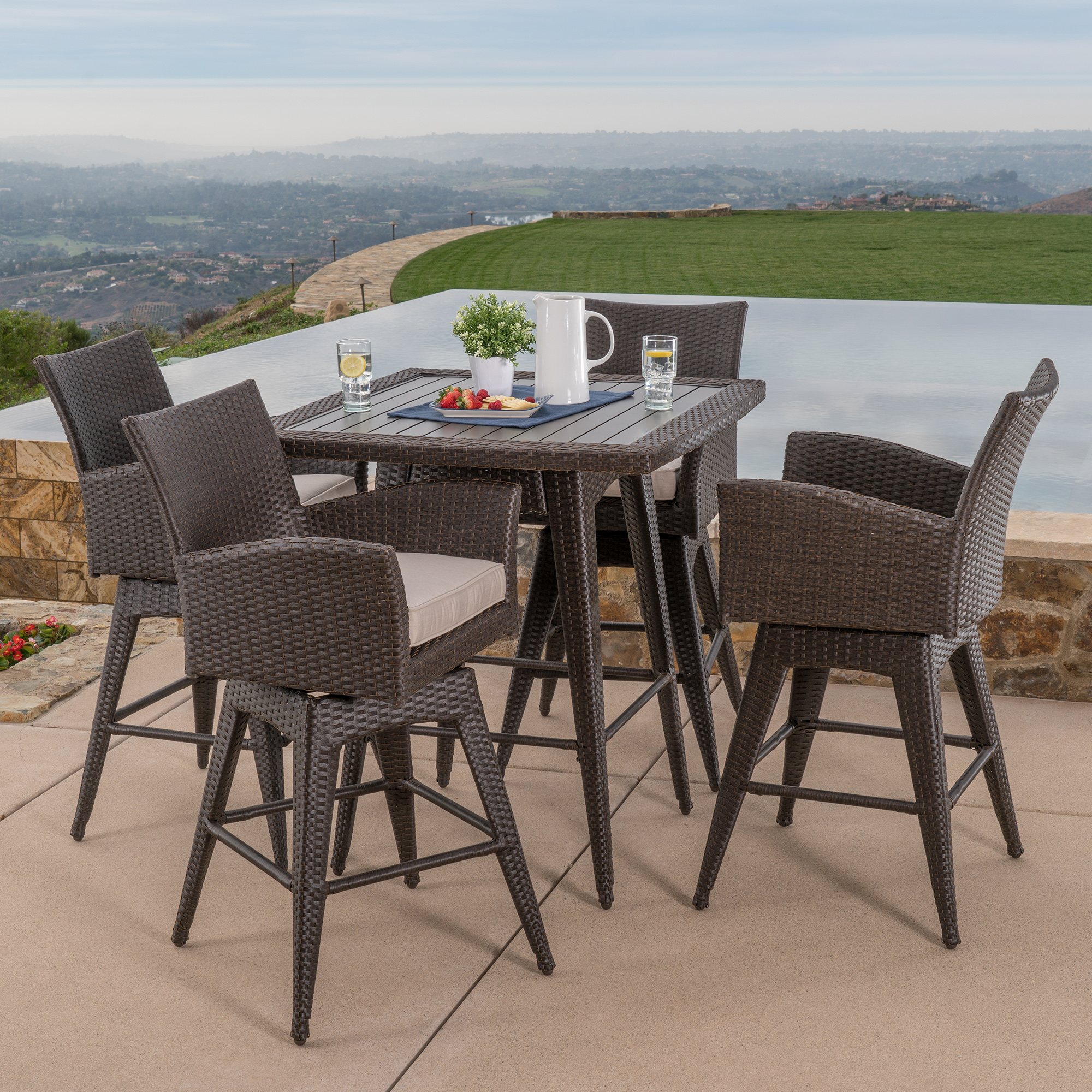 Santa Fe 5pc Bar Height Dining Collection