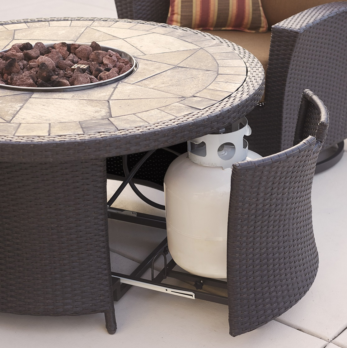 Santa Fe 5 Pc Motion Chat Set With Fire Table Canvas