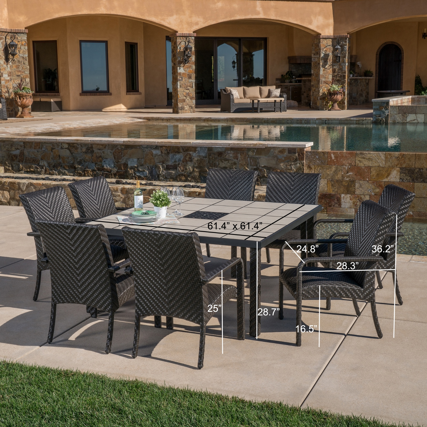 Valenicia 9pc Dining Collection