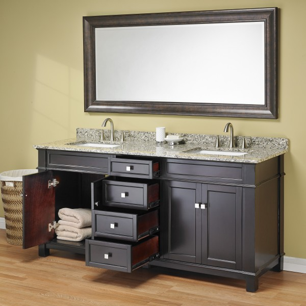 Double Sink Vanity With Granite Countertop. Madison 72  Double Sink Vanity Mission Hills Furniture