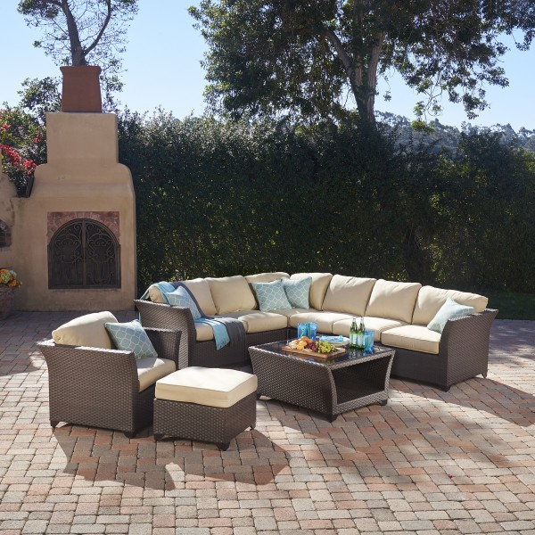Avalon Bay 9pc Deep Seating Collection Mission Hills Furniture
