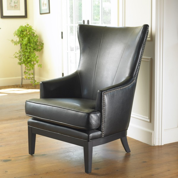 Contemporary Bonded Leather Wingback Chair