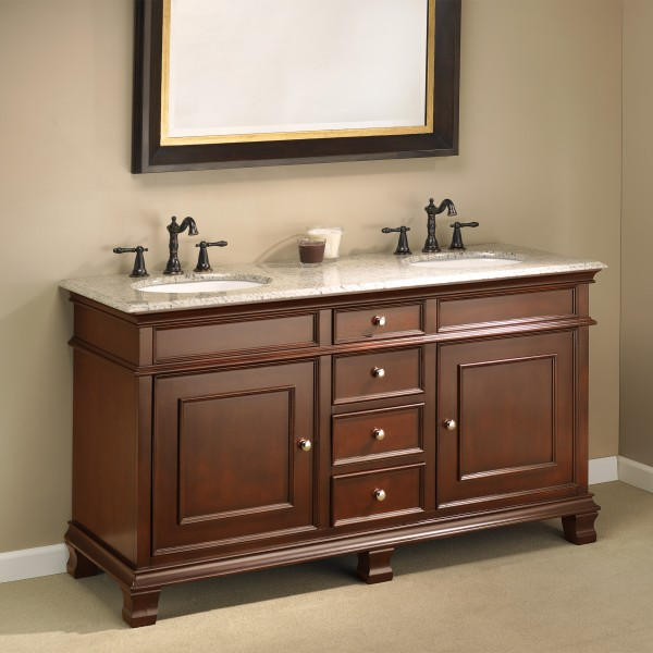Manhattan 60 double sink vanity mission hills furniture - Bathroom vanities nebraska furniture mart ...