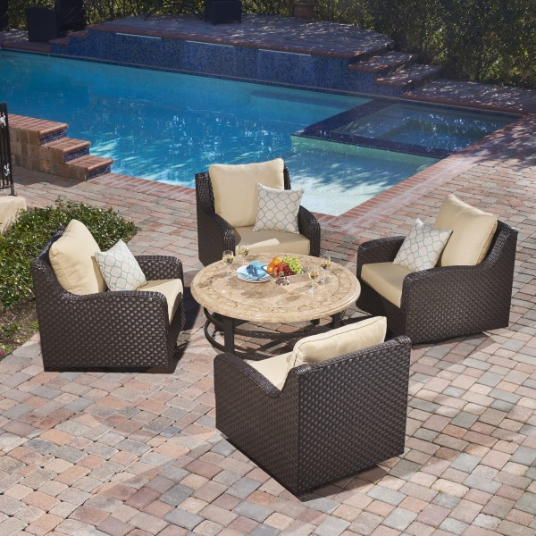 Westwood Lane 5pc Swivel Chat Set