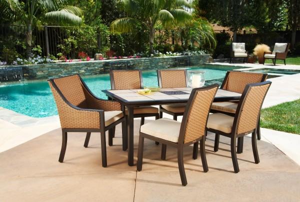 Panama 7pc Dining Set Mission Hills Furniture