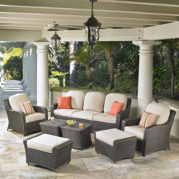 Canyon Park 7pc Deep Seating Collection Mission Hills Furniture