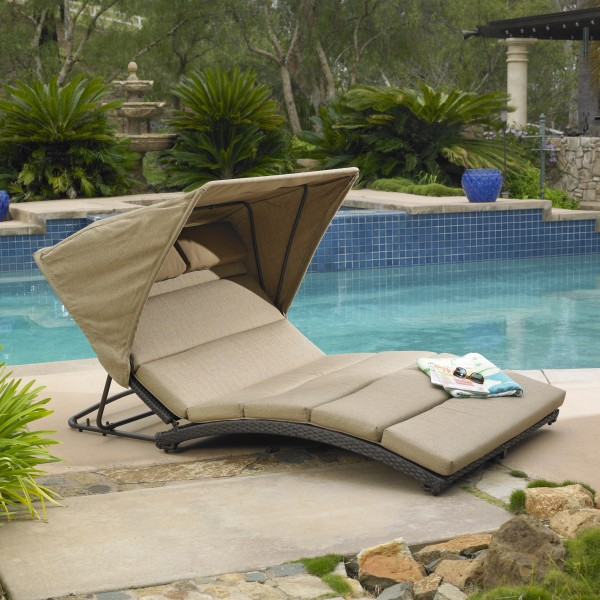 Oceanview Double Chaise Lounge with Canopy | Mission Hills ...