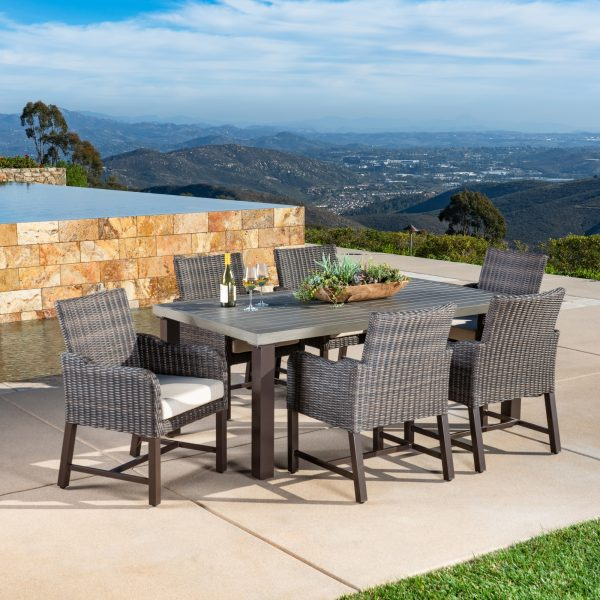 Brandemore 7pc Dining Collection Beige Mission Hills