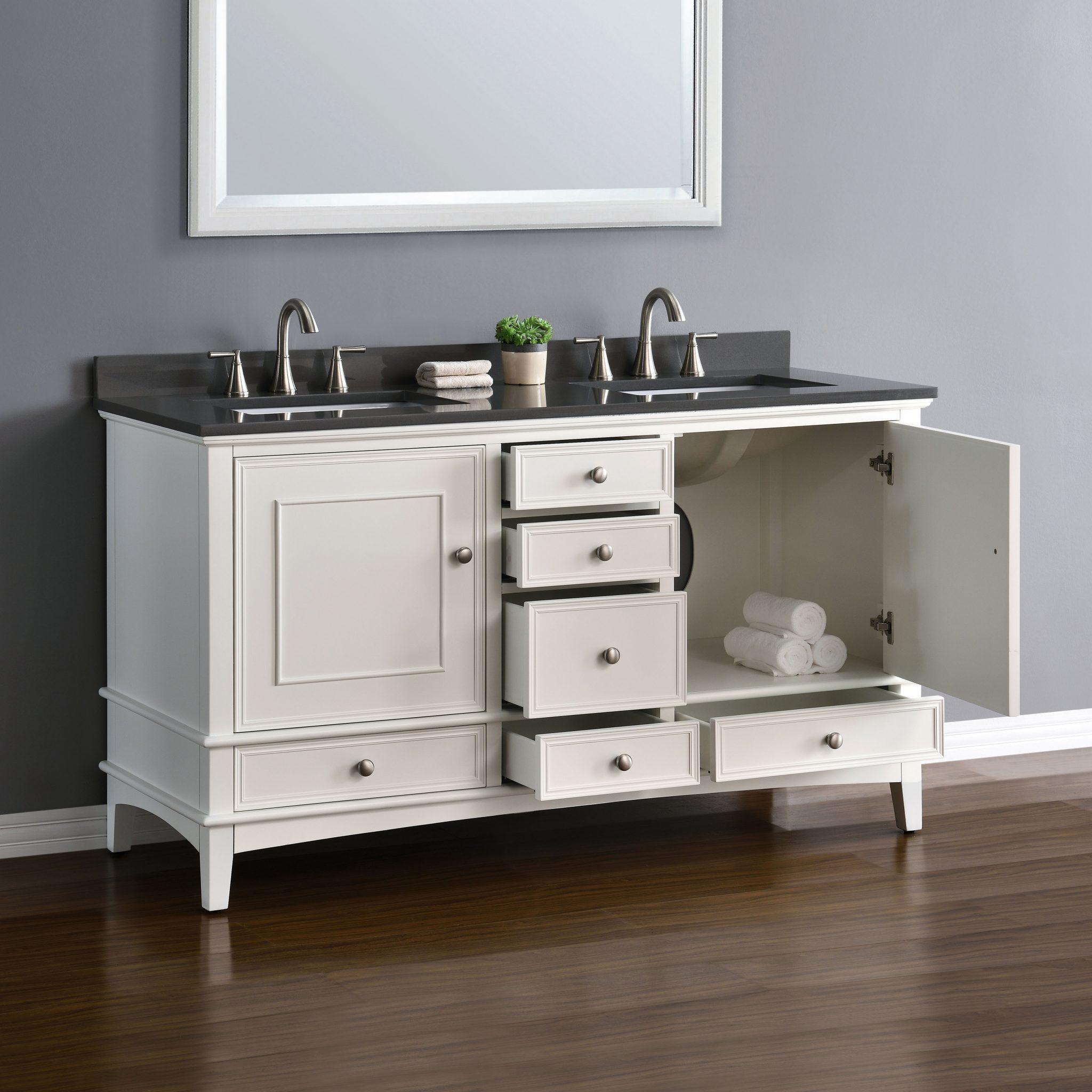 White And Gray Bathroom Vanity