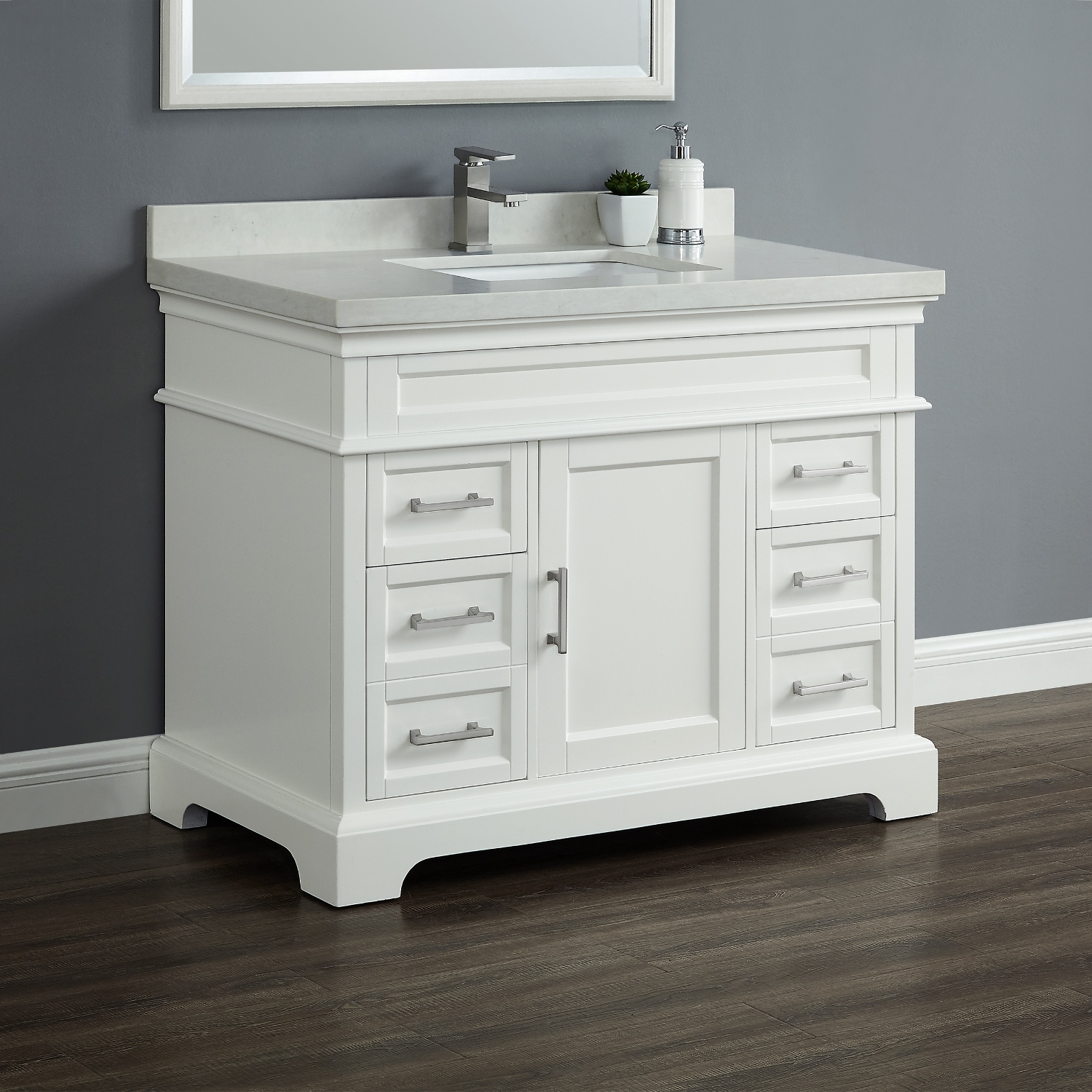 chandler 42 quot single sink vanity mission furniture 16945